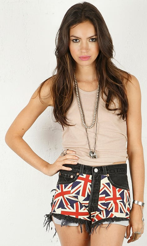 These cool cutoffs are perfect for wearing to all of your Summer concerts. The coolest part? This brand uses vintage fabrics so each pair is a unique piece.  Runway Dreamz Vintage UK Flag Panel Shorts ($198)