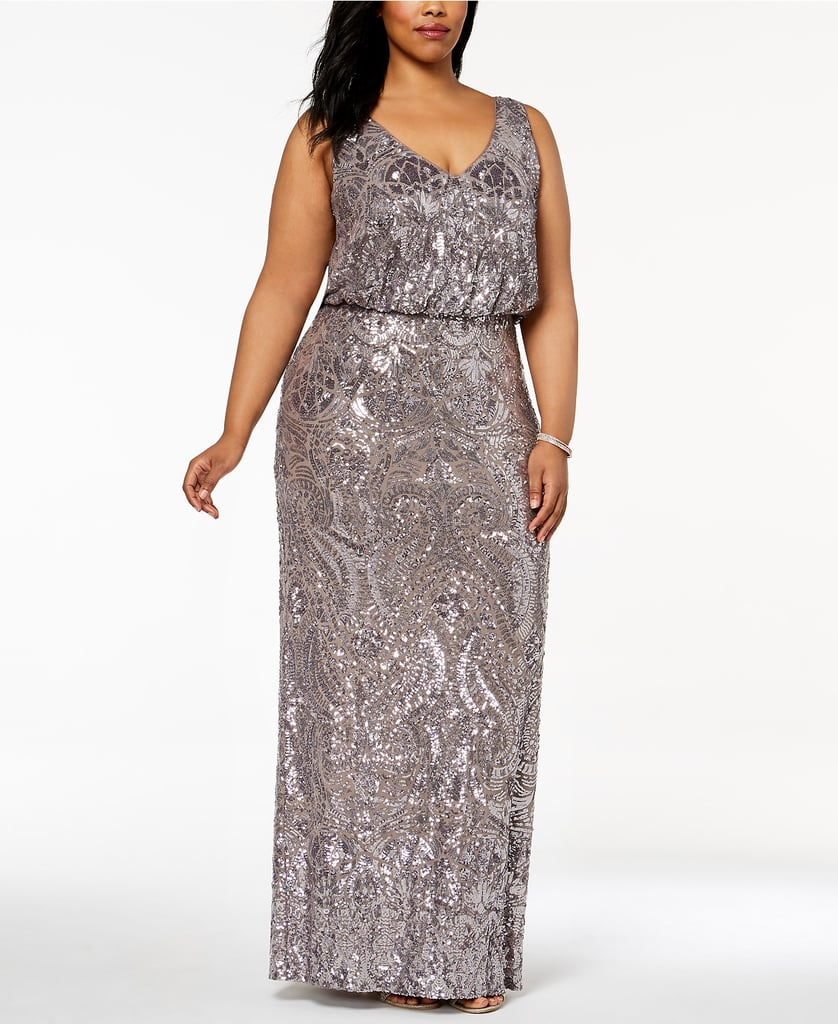 9cd5289b19e0 Betsy & Adam Sequined Blouson Gown | Melania Trump Sequined Chanel ...