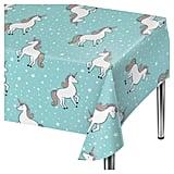 Spritz Unicorn Blue Disposable Tablecloth ($3)