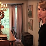 Taylor's dining room housed a stunning chandelier, which we're hoping she took with her when she moved!