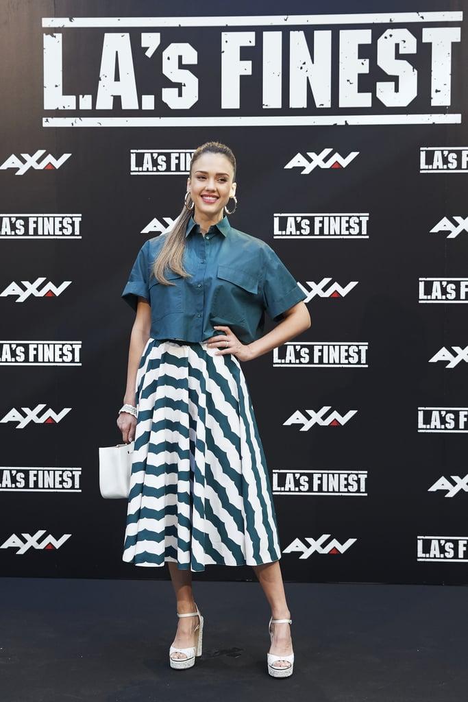 Jessica Alba Wore Superlong Hair For LA's Finest Europe Tour