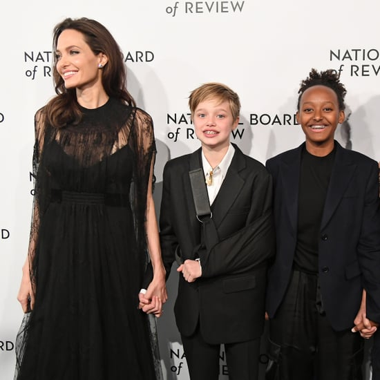Angelina Jolie, Shiloh, and Zahara Board Review Awards Gala
