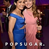 Pictured: Freida Pinto and Brie Larson