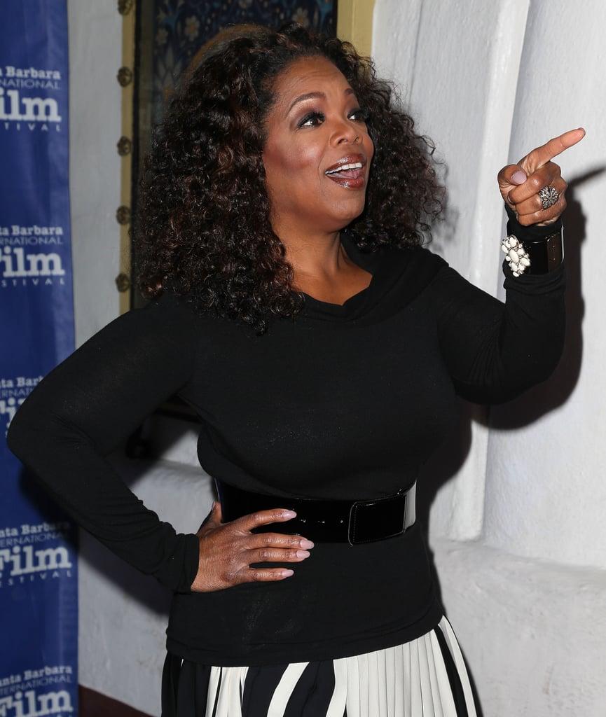 She noticed a familiar face at the Santa Barbara Film Festival in February 2014.
