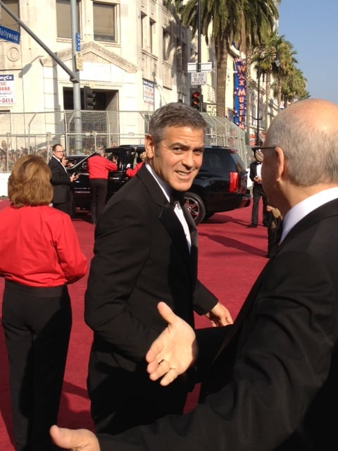 George Clooney got snapped leaving his car  | See all the