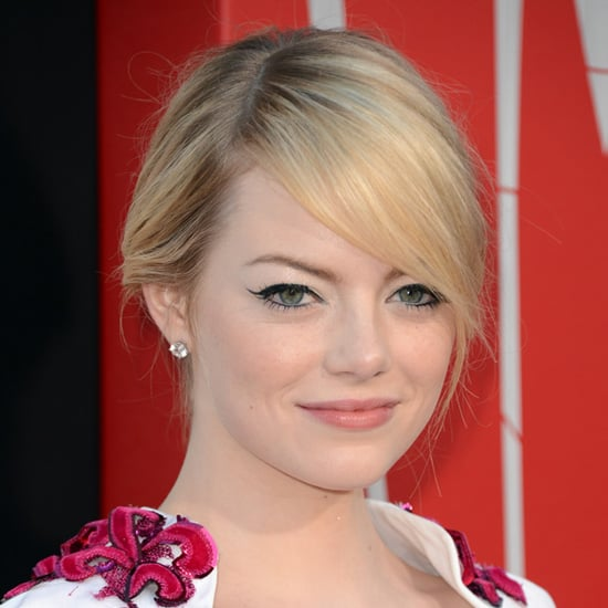 Emma Stone Hair and Makeup at Spider-Man Premiere