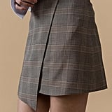 Genuine People Plaid Miniskirt