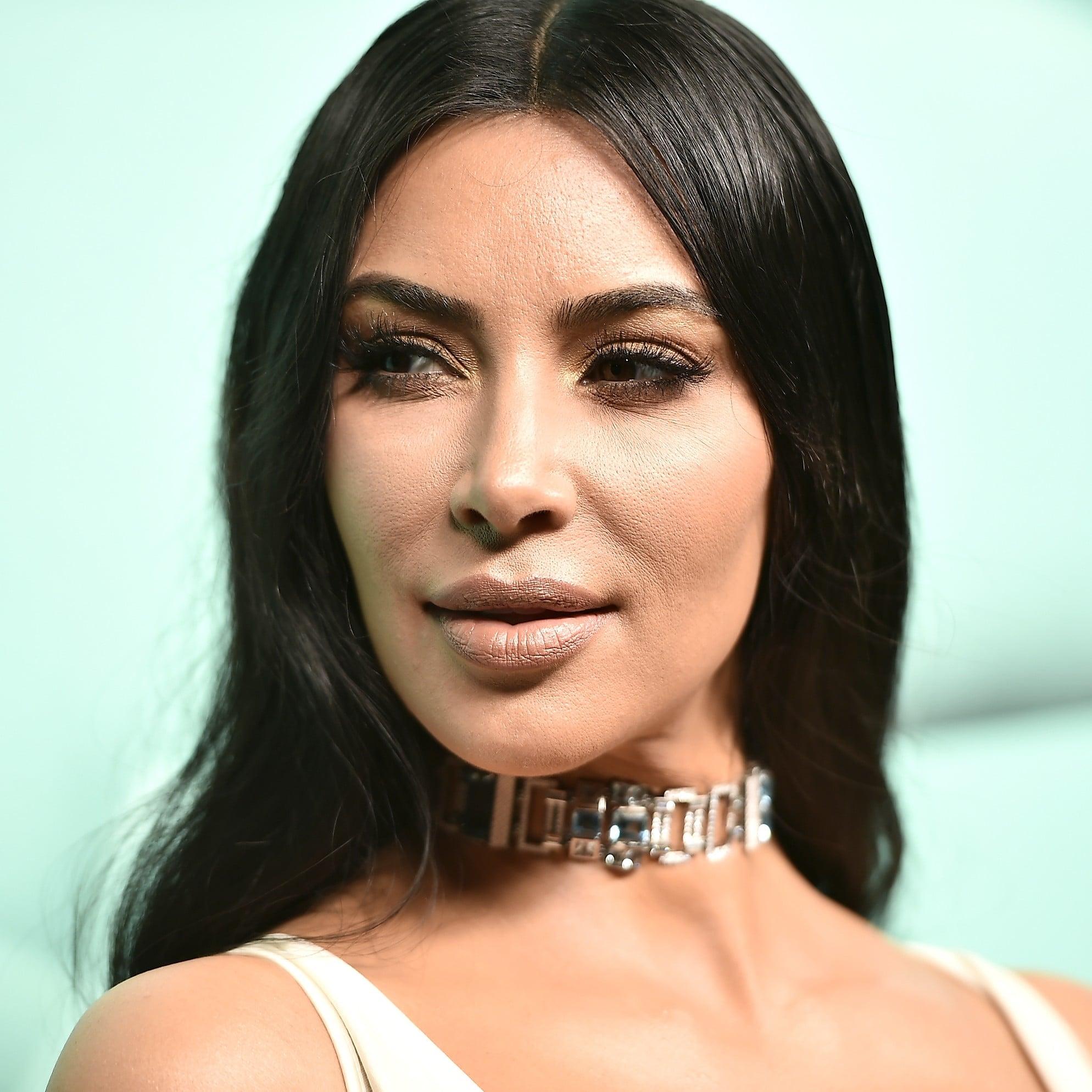 kim kardashian white dress and tiffany co choker 2018 popsugar
