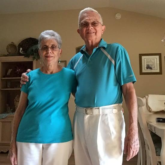 زوجان كبيران يرتديان ملابس متطابقة كل يوم