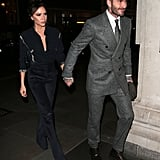 Victoria and David Beckham in London