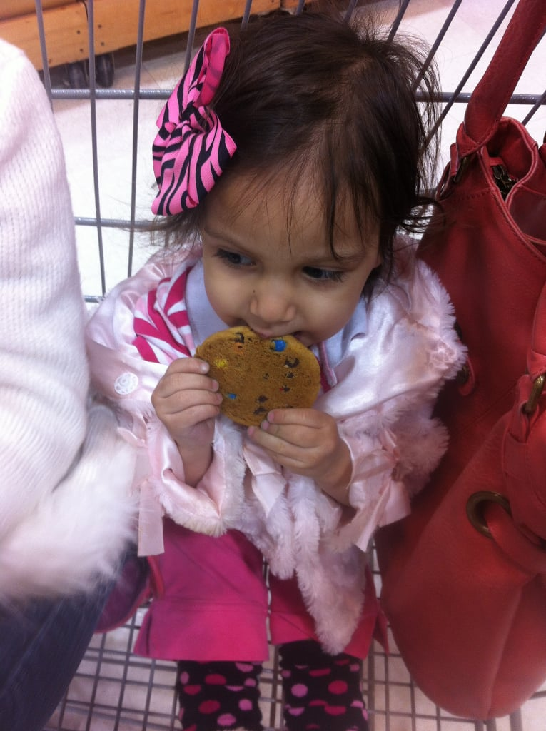 Bribing them with a cookie for the sake of a sane shopping excursion
