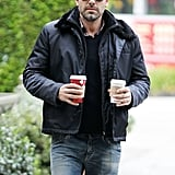 Ben Affleck picked up some hot drinks.