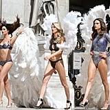 Alessandra Ambrosio at Victoria's Secret Holiday Shoot 2016