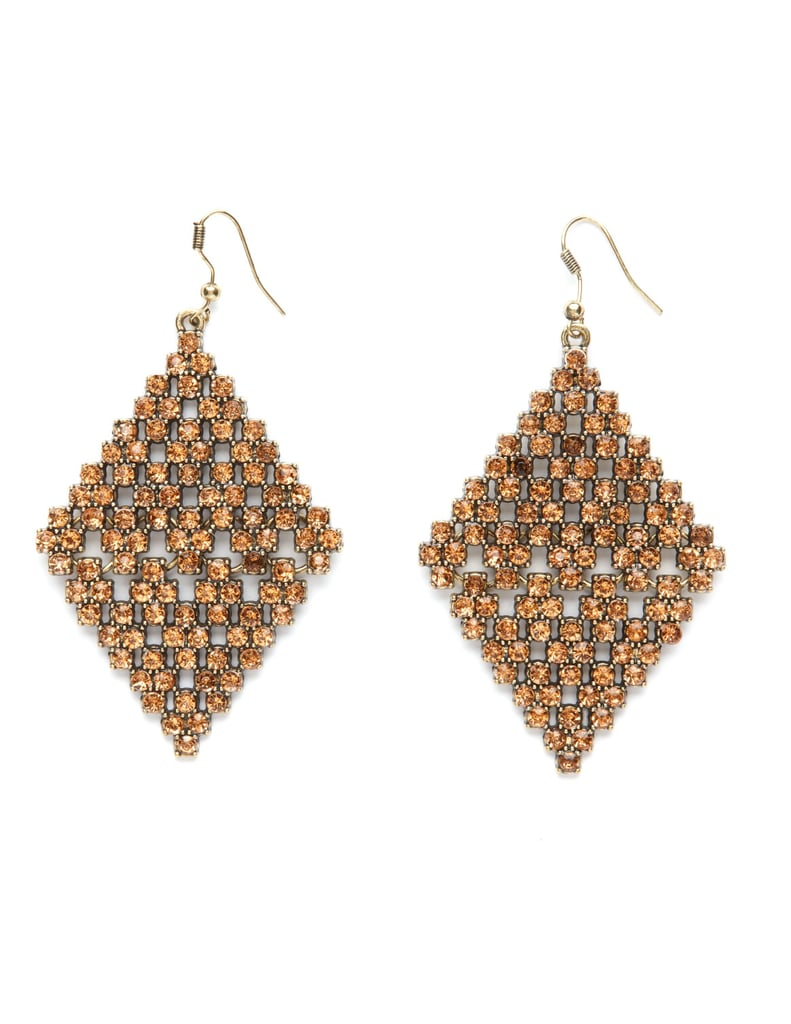 Charlotte Russe Peach Stone Diamond Earrings ($9)