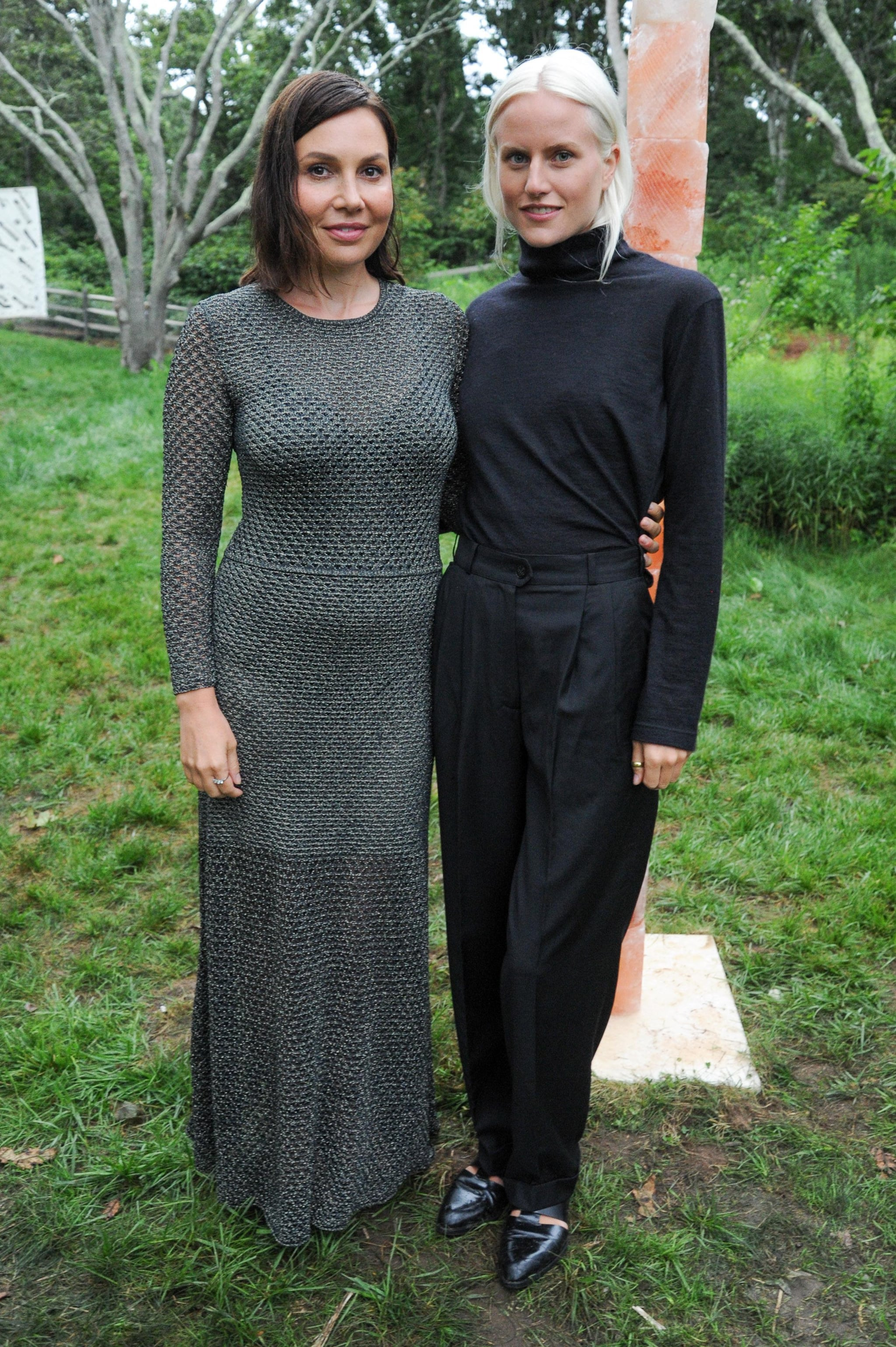 Fabiola Beracasa and Olympia Scarry were chic and covered up at the Art Production Fund's Montauk party.