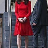 Shop for cherry-red pleats like Kate's, just in time for the holidays.