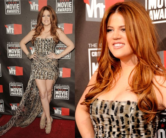 Khloe Kardashian at 2011 Critics' Choice Awards