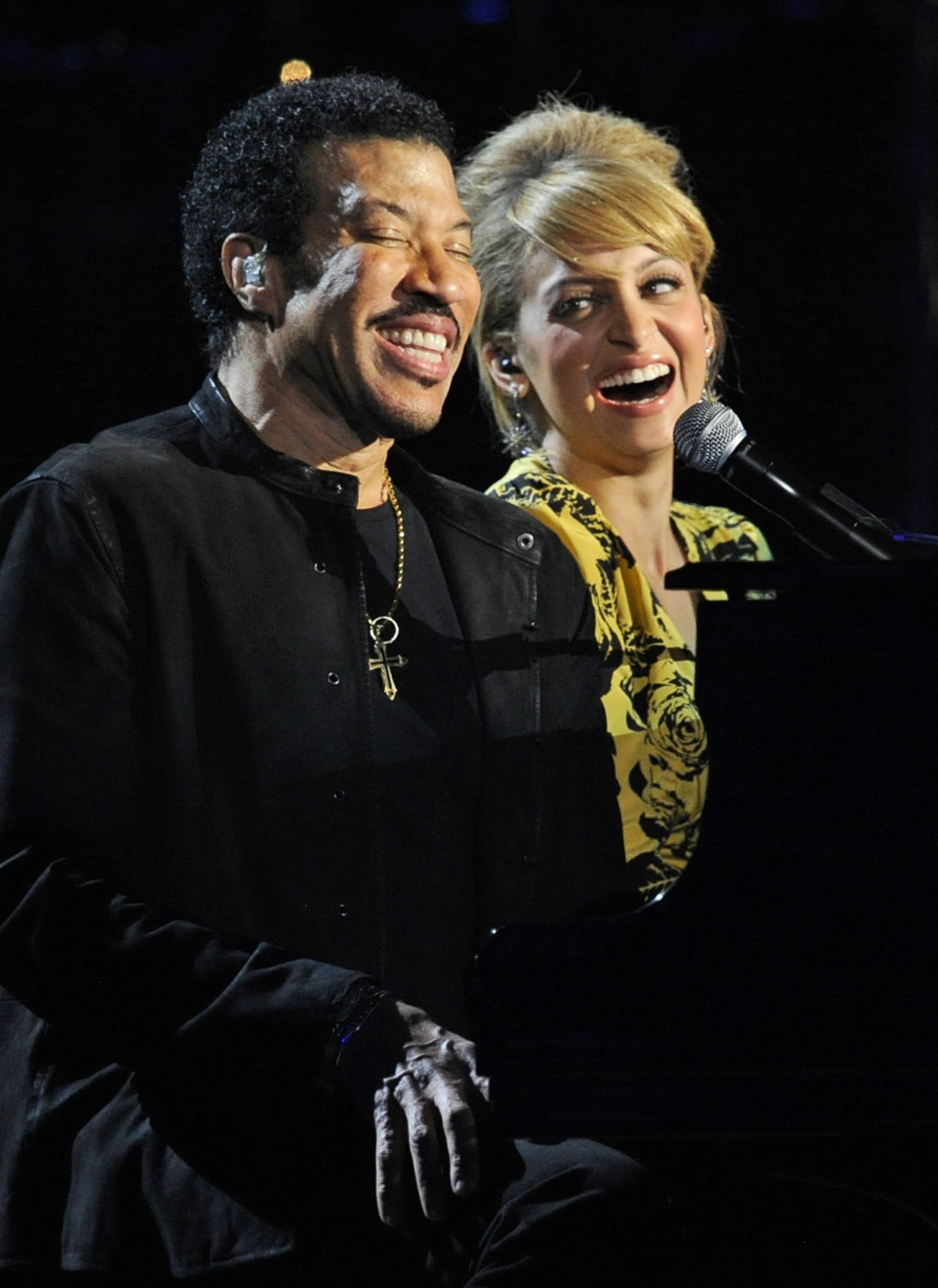 She joined her dad, Lionel, on stage during his special Las Vegas concert in April 2012 —so sweet!