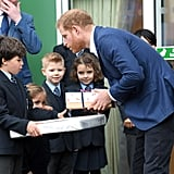 Prince Harry at St. Vincent's Catholic Primary School 2019