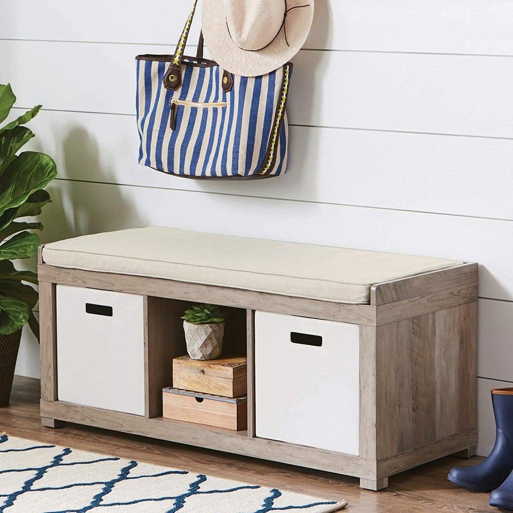 3-Cube Organizer Storage Bench
