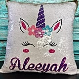 Unicorn Personalized Reversible Sequin Magic Pillow