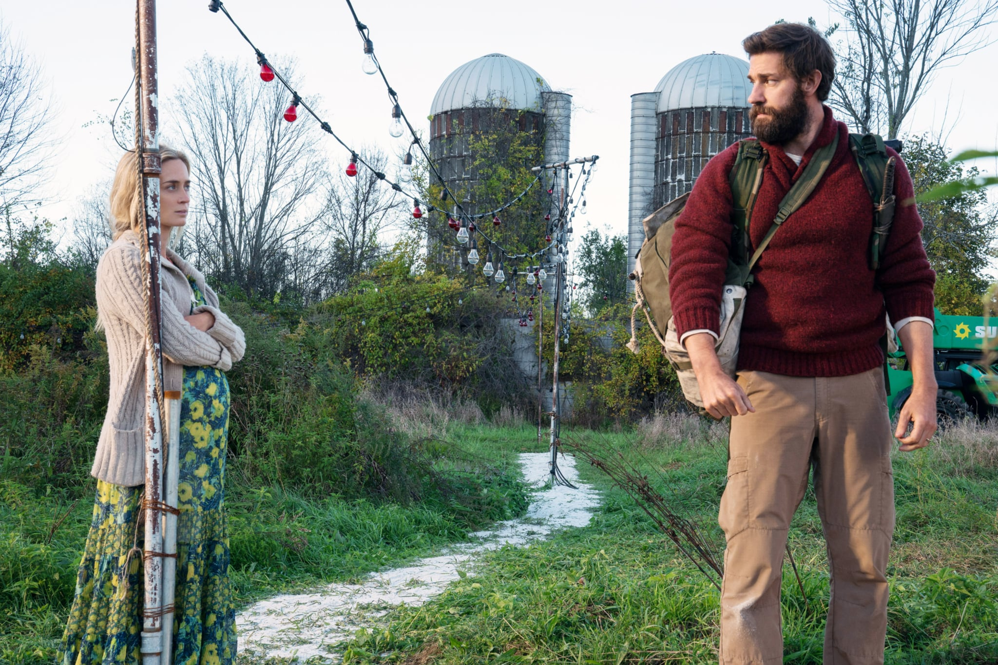 A QUIET PLACE, from left: Emily Blunt, John Krasinski, 2018. ph: Jonny Cournoyer /  Paramount /Courtesy Everett Collection