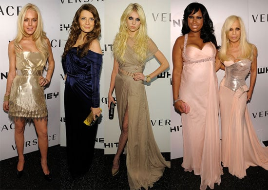 Photos of Lindsay Lohan, Mischa Barton, Jennifer Hudson and Taylor Momsen at Donatella Versace's Party at the Whitney