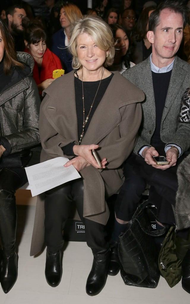 Martha Stewart at NYFW