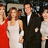 Matthew Perry walked the red carpet with his gorgeous co-stars at the Golden Globes in 1996.