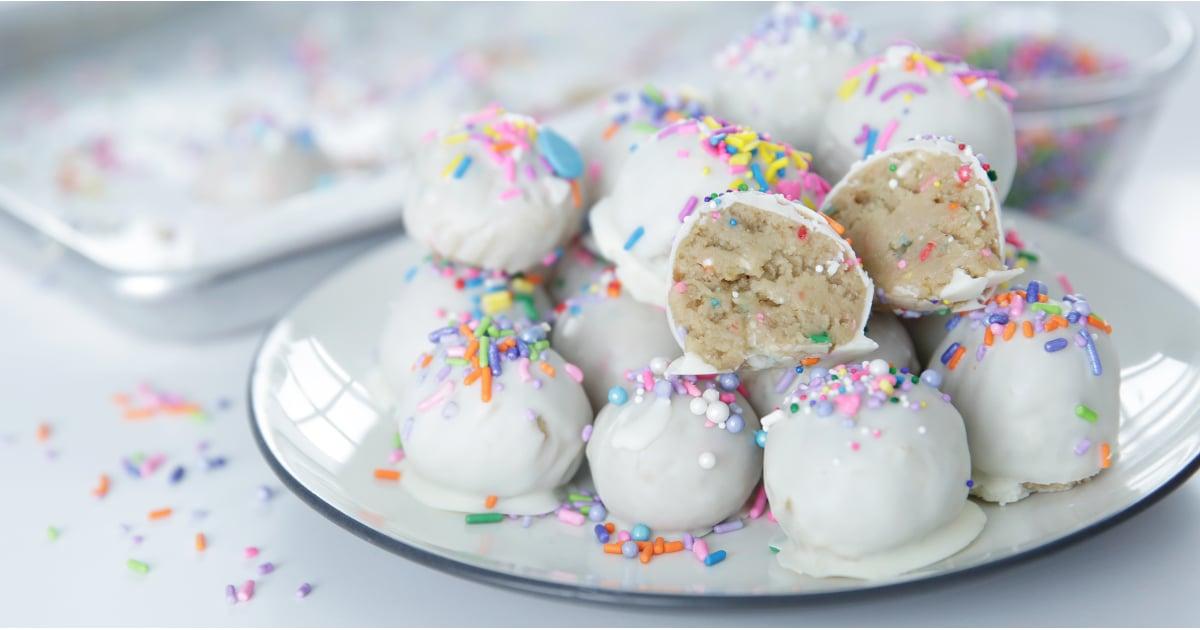 NoBake Birthday Cake Truffles POPSUGAR Food