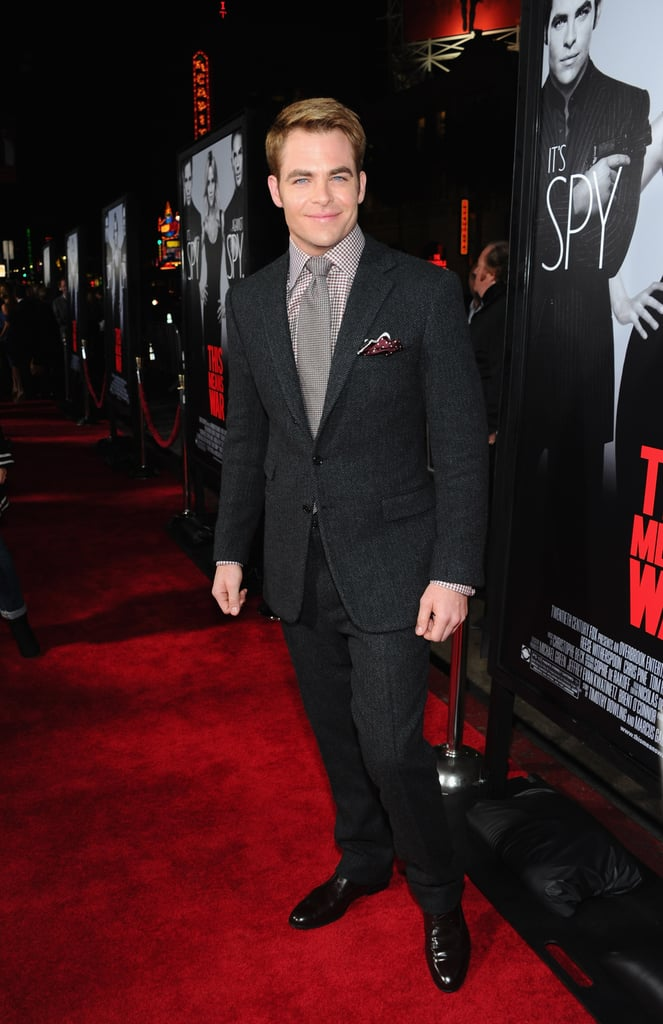 Chris Pine attended the LA premiere of This Means War.