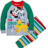 Mickey Mouse and Pluto Holiday PJ Set