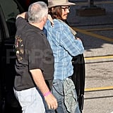 Johnny Depp Talks Lone Ranger and Visits Katie and Adam's Set!