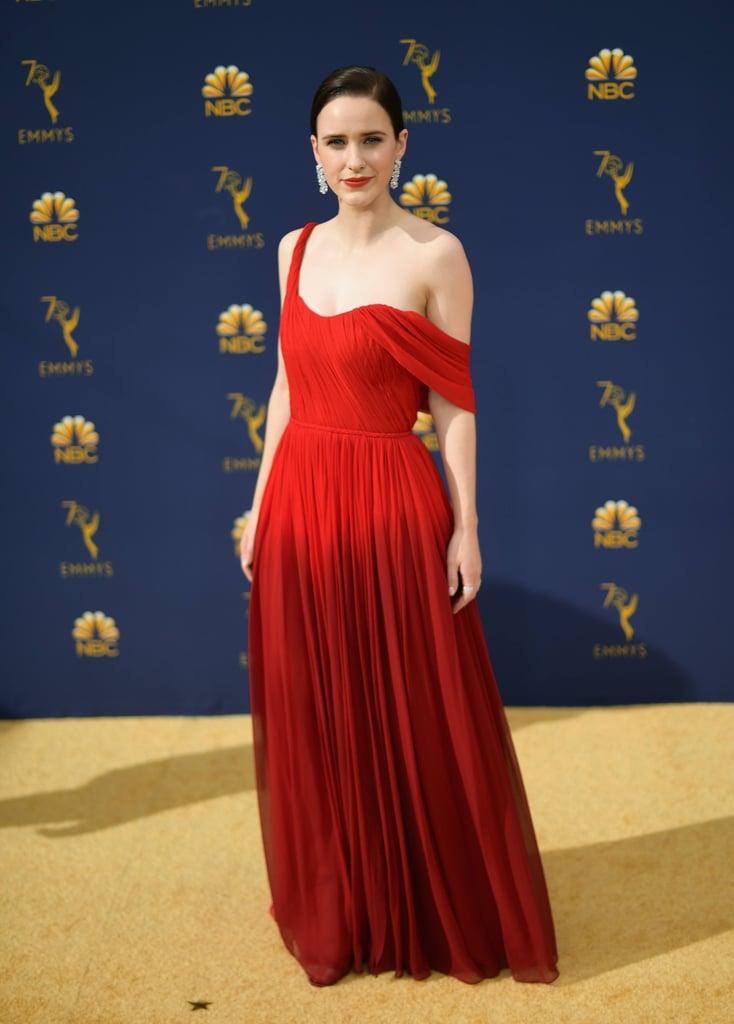 Rachel Brosnahan's Oscar de la Renta Dress at the 2018 Emmys