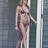 LeAnn Rimes wore a colorful bikini during a vacation in Maui in January 2012.