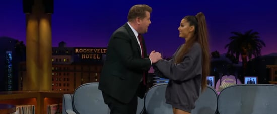 Ariana Grande Celebrates Billboard Record With James Corden