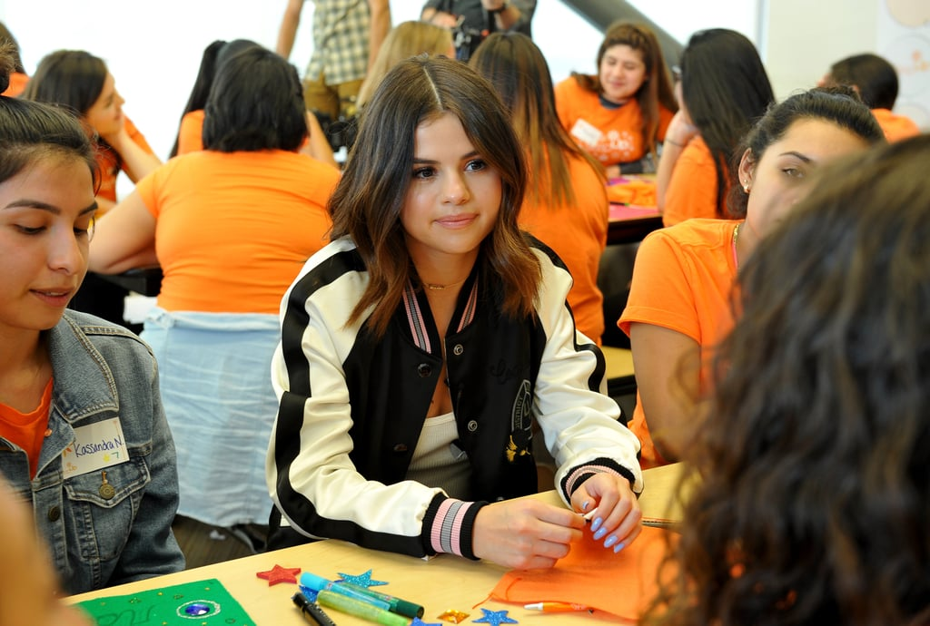 Selena Gomez Coach Jackets in LA March 2017