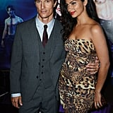 Matthew McConaughey and Camila Alves were arm-in-arm for the Magic Mike premiere in London.