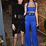Kendall posed with Gigi Hadid back in March as they both wore wide, big-buckled belts.