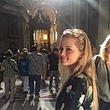 """""""#FBF touring Rome with my girl @avaphillippe"""""""