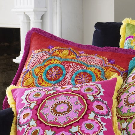 Red Embroidered Cushion ($47)