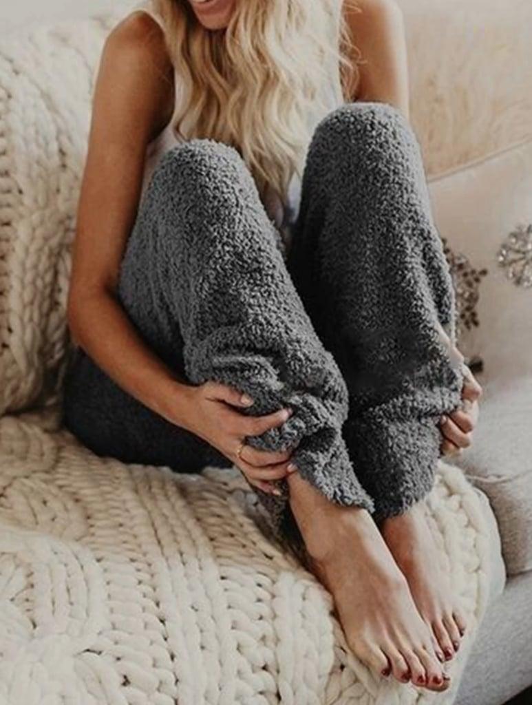 MarcoJudy Cozy Fuzzy Fleece Pajama Pants