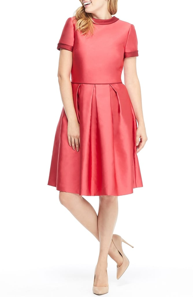 Gal Meets Glam Collection Annabelle Bow-Back Double Face Satin Dress