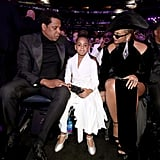 JAY-Z and Beyonce With Blue Ivy at the 2018 Grammys