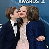 Cameron Crovetti, Ivy George, and Nicholas Crovetti at the 2020 SAG Awards