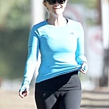 Reese Witherspoon wore Adidas gear for her workout.