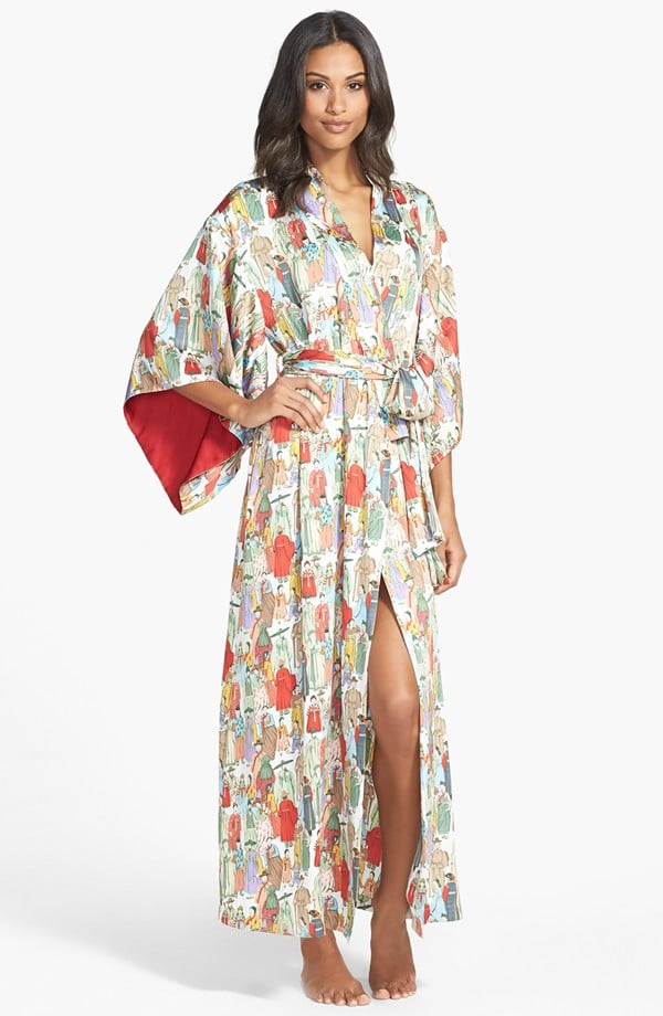 Natori Dynasty Print Robe | Kim Kardashian Robe Dress at the Grammys ...