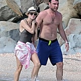 Naomi Watts and Liev Schreiber waded in the water.