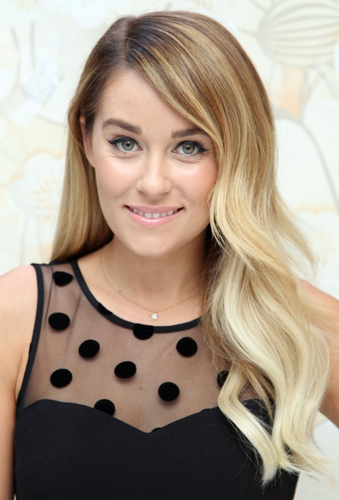 Lauren Conrad knows what works for her. She stuck with her signature cat-eye liner and loose waves that work all year round.