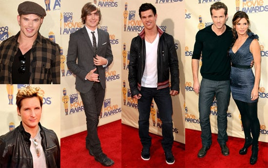 Photos of Kellan Lutz, Taylor Lautner, Ryan Reynolds, Zac Efron, and More at 2009 MTV Movie Awards